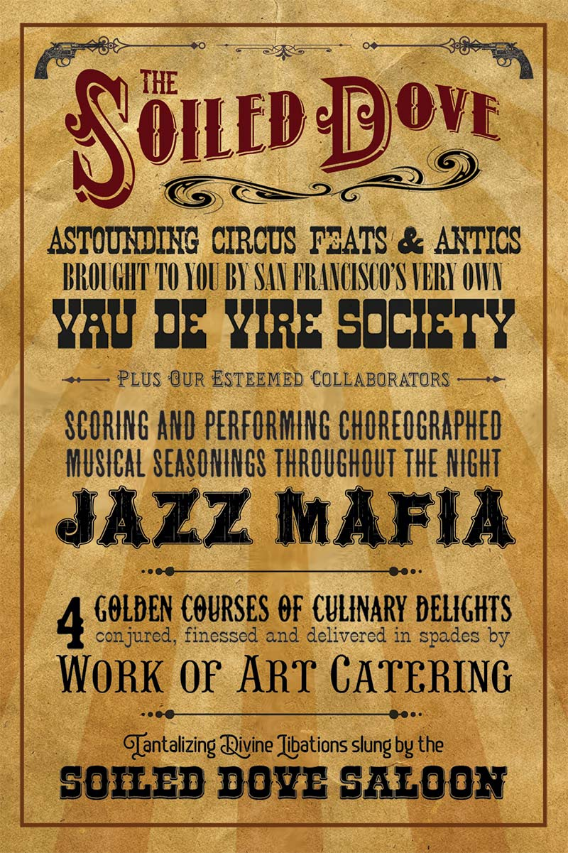 The Soiled Dove - featuring Vau de Vire Society, Jazz Mafia & Work of Art Catering