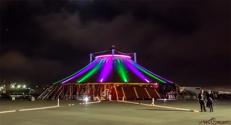 Vau de Vire's Tortona big top circus tent